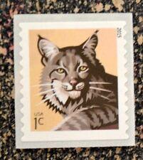 2015USA  #4672a 1c  Bobcat  Coil  Single  Mint  NH    self adhesive  .01 cent