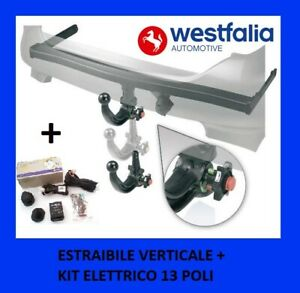 Gancio traino Westfalia estraibile verticale AUDI A3 e Q2 + kit elettrico 13