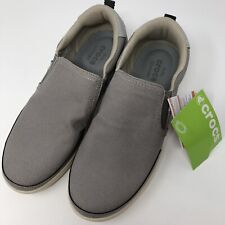 Crocs Men's Size 8 Torino Slip On shoes Charcoal Dual Comfort New