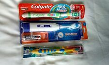 1 dr fresh +1 colgate battery toothbrushes + childs toothbrush