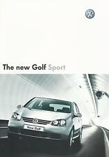 Volkswagen Golf Sport UK Market Brochure 2004 Excellent Cond 1.6 FSI & 1.9 TDI