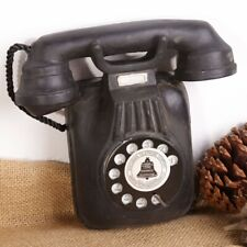 Antique Rotary Dial Wall-mounted Phone Model Vintage Call Resin Decoration