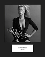 KATE MOSS #1 Signed Photo Print 10x8 Mounted Photo Print - FREE DELIVERY