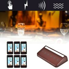 Wireless Restaurant Coaster 6 Pager Waiter Calling Paging Queuing System New