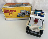 Vintage Nomura (TN) Japan Battery Operated Radar Police Jeep Not Working Boxed