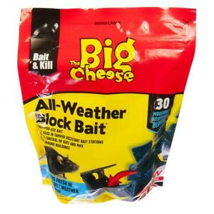 Rat and Mouse Poison All Weather Block Bait 30 x 10g | The Big Cheese