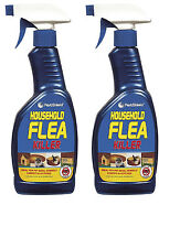 2 x 500ml Flea Killing Spray For Cat Dog Used on Bed Carpet Soft Furniture *New*