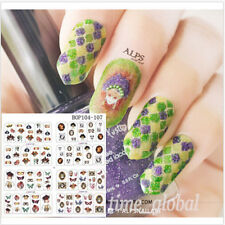 4pcs Nail Art Water Decals Transfer Stickers Butterfly Mask Patterns Manicure