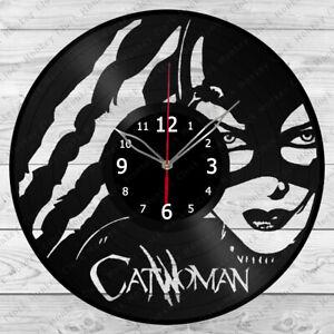 Vinyl Clock Catwoman Vinyl Record Wall Clock Home Decor Handmade 55