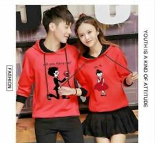 COUPLE JACKET WITH HOOD JLH - RED (SINGLE GIRL)