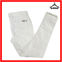 Joules Womens White Skinny Strech Jeans Loren UK 12 M Medium Bright Summer Pants
