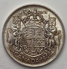 CANADA 1944 WIDE DATE  50 CENTS KING GEORGE VI .800 SILVER C4
