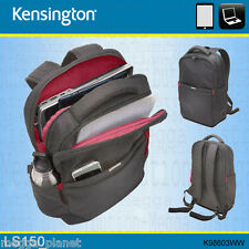 "Kensington LS150 15.6"" Laptop +Tablet Business Backpack/Rucksack Carry Bag GREY"