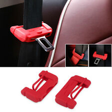 Car Truck Safety Seat Belt Buckle Protective Cover Silica Anti-Scratch Red Case