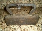 Antique Tailor's Cast Iron Victorian Twisted Handle Sad Iron