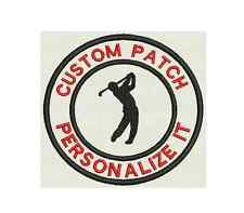 """Set of 5 Golf Custom Embroidered badges, Name Tag, Patch, 3.5"""" Iron on"""