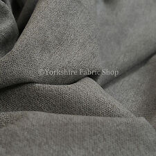 10 Metre Of Quality Highland Wool Effect Chenille Curtain Upholstery Grey Fabric