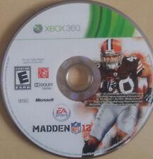 XBOX 360 MADDEN NFL 12 MICROSOFT EA SPORTS DOLBY DIGITAL 2011 VIDEO GAME