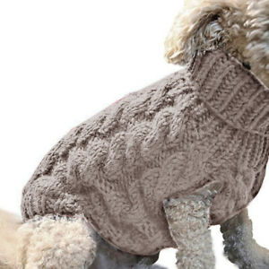 Soft Warm Dogs Sweater Comfortable Dog Winter Vest Apparel Small Dog Puppy