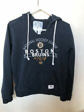 Women's Old Time Hockey Boston Bruins NHL Black Zip Up Hoodie Sweatshirt Sz L