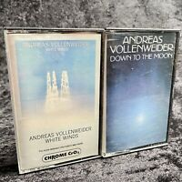 Lot Of 2 Andreas Vollenweider Cassette Tapes White Winds Down To The Moon