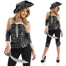 Ladies Ships Mate Costume Pirate Sailor Buccaneer Caribbean Fancy Dress