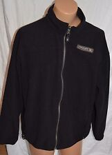 Spyder Mens Winter BLACK fleece Jacket Coat Size Medium  Large full front zipper