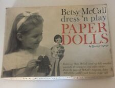 Vintage Betsy McCall's Dress N' Play Paper Dolls Standard Toy craft
