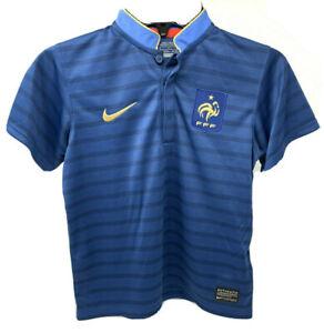 Nike FRANCE FFF Home Blue Football Shirt 2012-13 Little Boy's Medium New w Tags