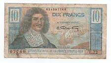 FRENCH EQUATORIAL AFRICA 10 FRANCS 1947 PICK 21 LOOK SCANS