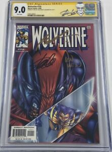 Wolverine #155 Deadpool Cover Signed by Stan Lee / Len Wein / Rob Liefeld CGC SS
