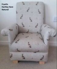 Fryetts Hartley Hare Fabric Child's Chair Armchair Beige Natural Rabbits Kids