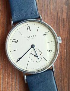 Nomos Glashütte Tangente 35mm Manual Wind  Stunning Watch Rare Germany Dial