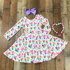 Spring Girls Valentines Day Dress Tie Dye Heart Dress NWT FREE Bow, All Sizes