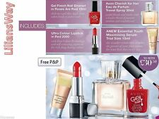 Avon Beauty Bundle~4 ITEMS~Nail Polish/Lipstick/Perfume/Anew Youth Serum