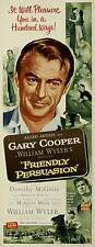 FRIENDLY PERSUASION Movie POSTER 14x36 Insert Gary Cooper Anthony Perkins