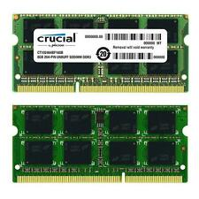 16GB 2X8GB Crucial Dual Channel DDR3 1600MHz PC3-12800 SO-DIMM PORTATILE MEMORY NUOVO