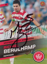 ✺Signed✺ 2013 2014 WESTERN SYDNEY WANDERERS A-League Card MICHAEL BEAUCHAMP