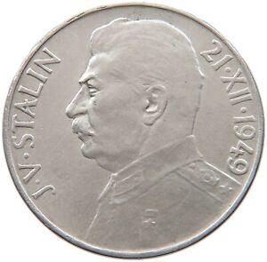CZECHOSLOVAKIA 100 KORUN 1949 STALIN #t93 175