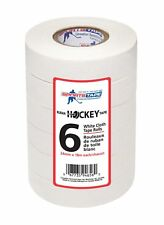 Sports Tape White Hockey Tape, 6 Rolls, 1 Inch Wide, 20 Yards Long (Cloth)