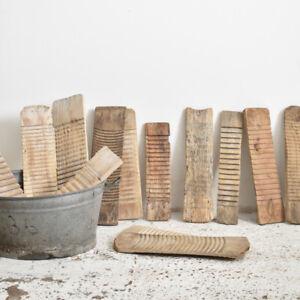 Industrial Vintage Antique Wooden Washboard