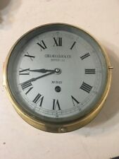 """Vintage Large 8"""" Dial Ships Clock Not A Chelsea"""