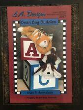 Pattern Bean Bag Plush Felt Cat & Dog Doll Heating Pad Uncut Oop L.A. Designs