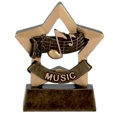 Music Trophy mini star perfect for schools. *Free Engraving*.
