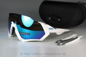 Oakley FLIGHT JACKET Sunglasses OO9401-0237 Polished White W/ PRIZM Sapphire