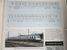 Bahn Lokaufrisse E & Diesel VBT 50 DB 628.0 Regioanlverkehr 1974