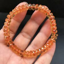 Natural Citrine Quartz Yellow Crystal Woman Abacus Round Beads Bracelet 7mm AAAA