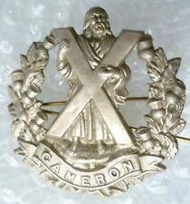 Badge- WW1 British Army Cameron Highlanders Badge (WH, Genuine*)