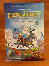 SDCC Exclusive Autographed Netflix Disenchantment Poster Matt Groening Signed