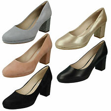 ec0959c435ee00 Ladies Clarks Smart Court Slip on Shoes Style - Kelda Hope Black Leather UK  7 D
